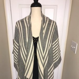 Sweaters - Francesca's Wrap NWT Black and Cream Lightweight!